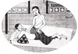 Индусы соединяли паровые бани с массажем