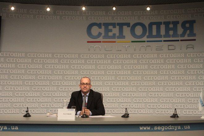 Иван Бадьин в Пресс-студии сайта СЕГОДНЯ.ua